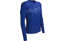 Icebreaker Tech Southern Alps t shirt Homme Lite, LS, BF150 bleu
